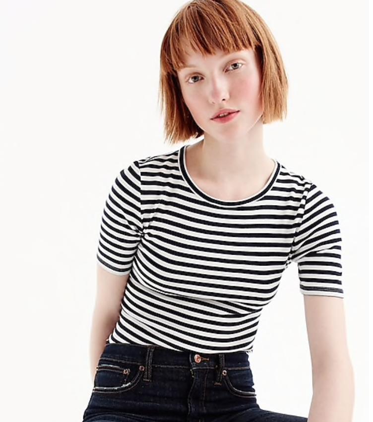 J. Crew Slim Perfect T-shirt in Stripe