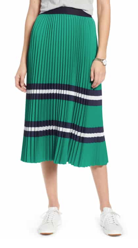 1901 Pleated Polo Midi Skirt