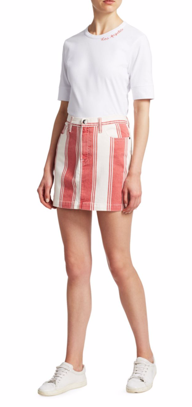 Frame Le Mini Striped Skirt