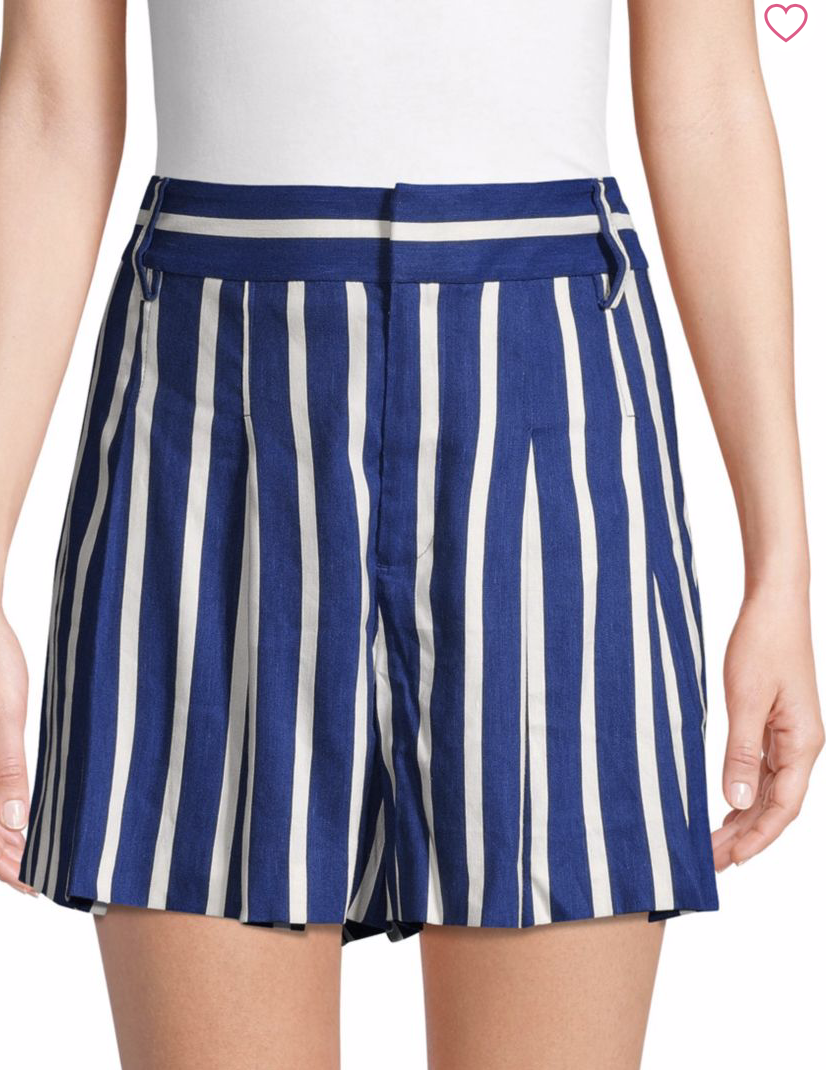 Alice + Olivia by Stacey Bendet Scarlet Striped Shorts