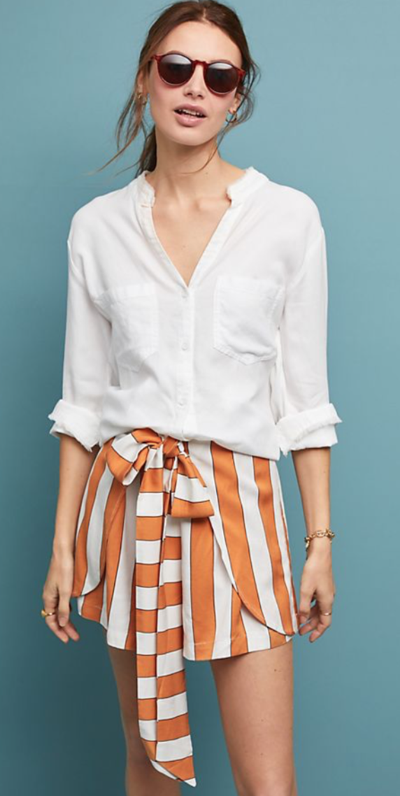 Anthropologie Sedona Striped Shorts