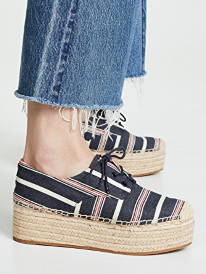 Tory Burch Tory Burch Florence 40mm Platform Espadrilles in Navy Multi