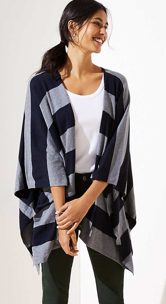 Loft Striped Travel Wrap