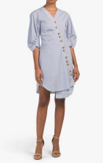 Tibi Jones Striped Shirt Dress