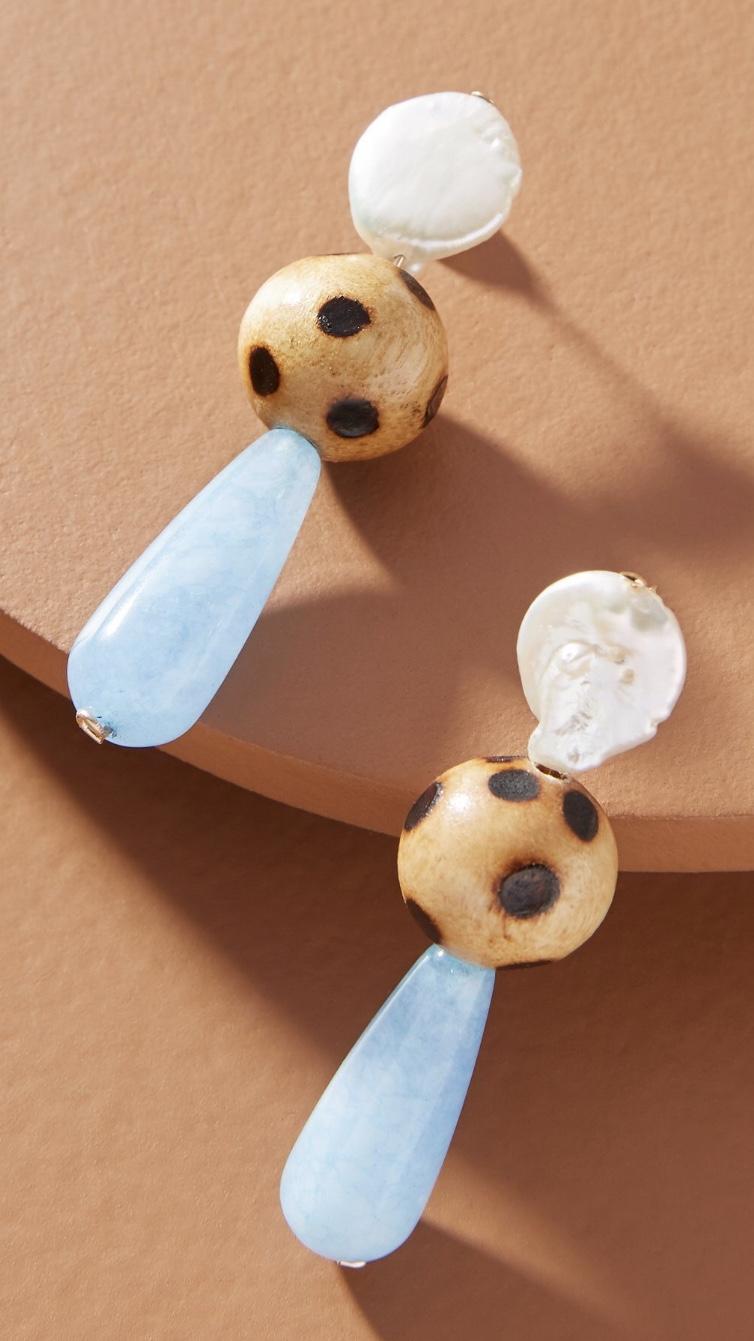 NST Studio Quartz Drop Earrings