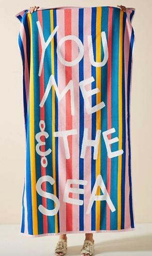 You, Me, Sea Beach Towel
