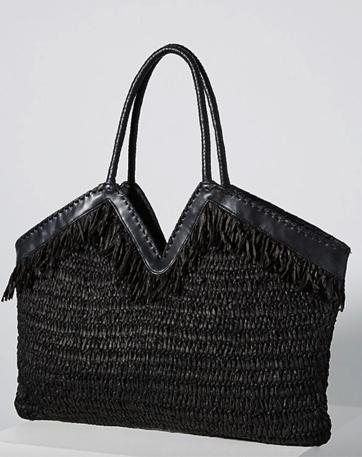 Suzy Raffia Tote Bag
