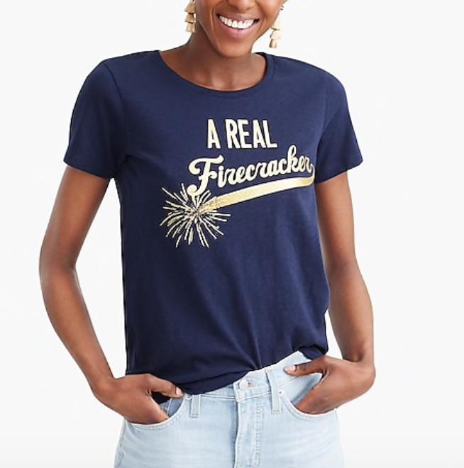 J. Crew Firecracker T-shirt