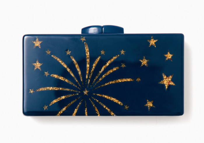 Tuckernuck Navy Crackle Clutch