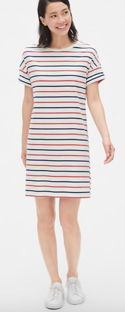 Gap Vintage Wash Stripe T-Shirt Dress