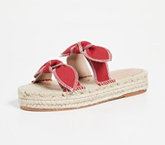 Loeffler Randall Daisy Two Bow Platform Espadrille Sandals
