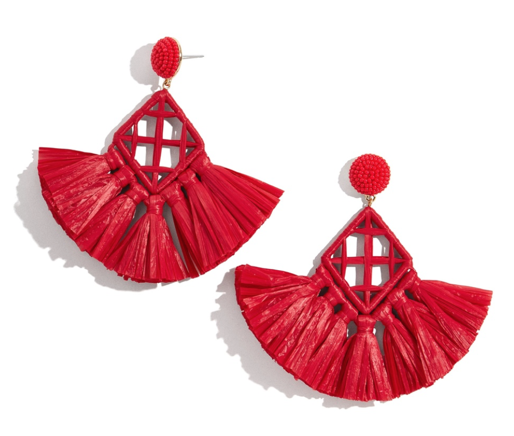 BaubleBar Sahari Raffia Drop Earrings