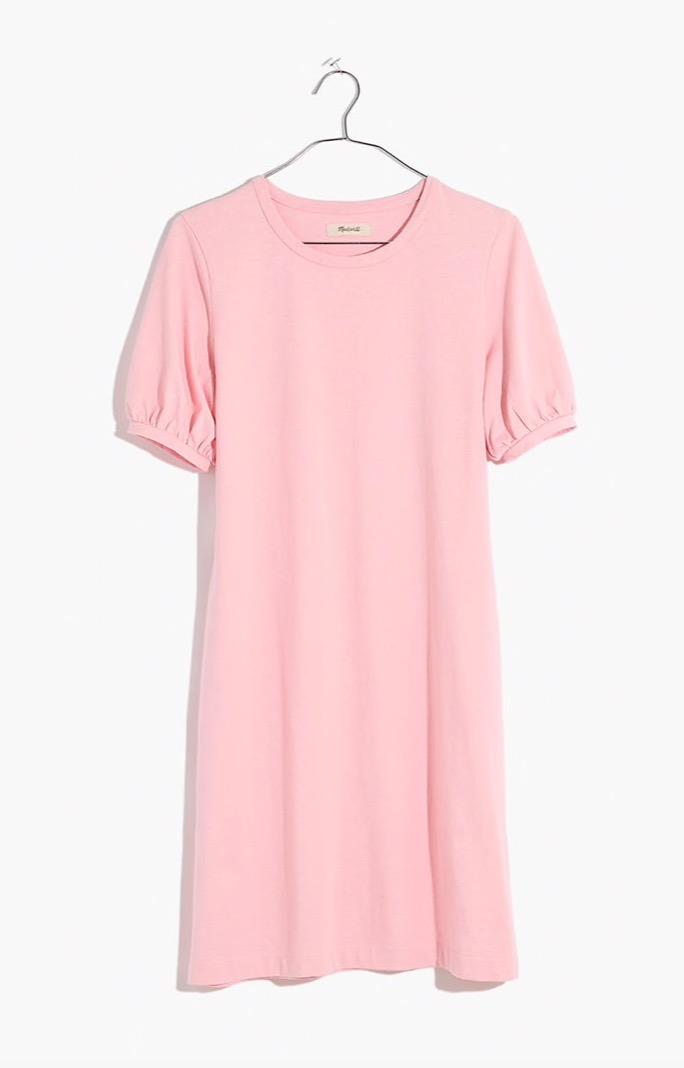 Puff-Sleeve Tee Dress