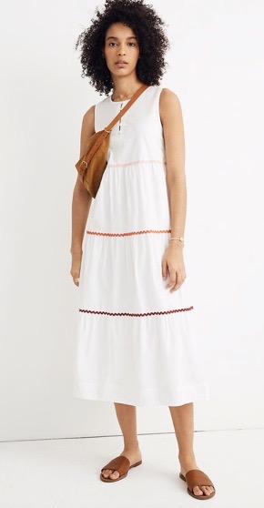 Rickrack Cattail Tiered Dress