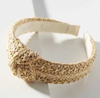 Anthropologie Raffia Headband