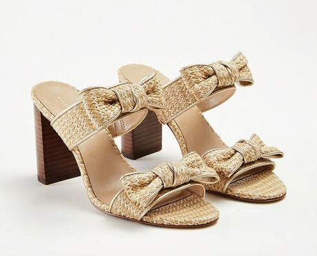 Ann Taylor Janie Bow Heeled Sandals