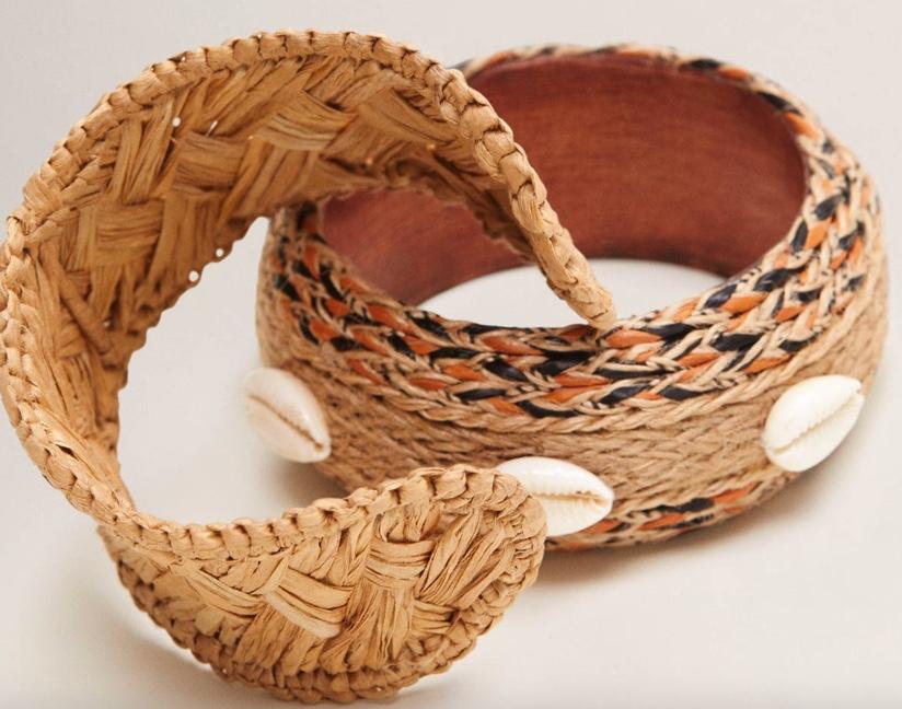Mango Raffia Bracelet Set