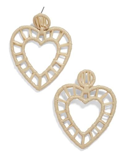 Nordstrom Bauble Bar Renata Raffia Heart Earrings