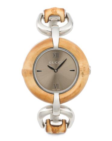 Gucci Bamboo Bezel Bangle Watch