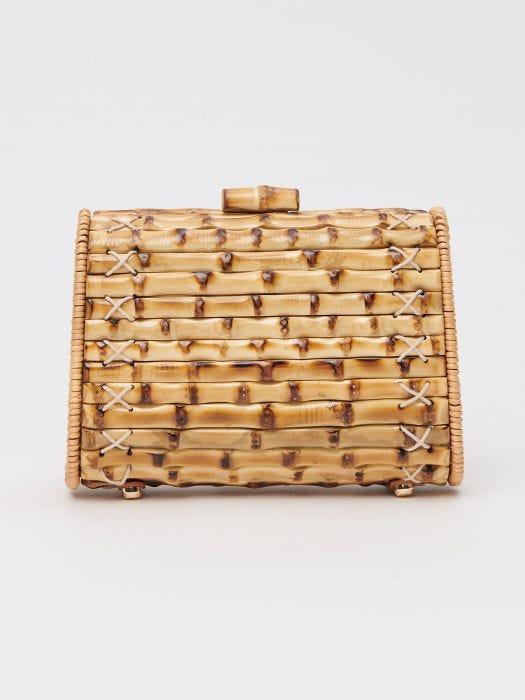 J. McLaughlin Kourtney Bamboo Clutch