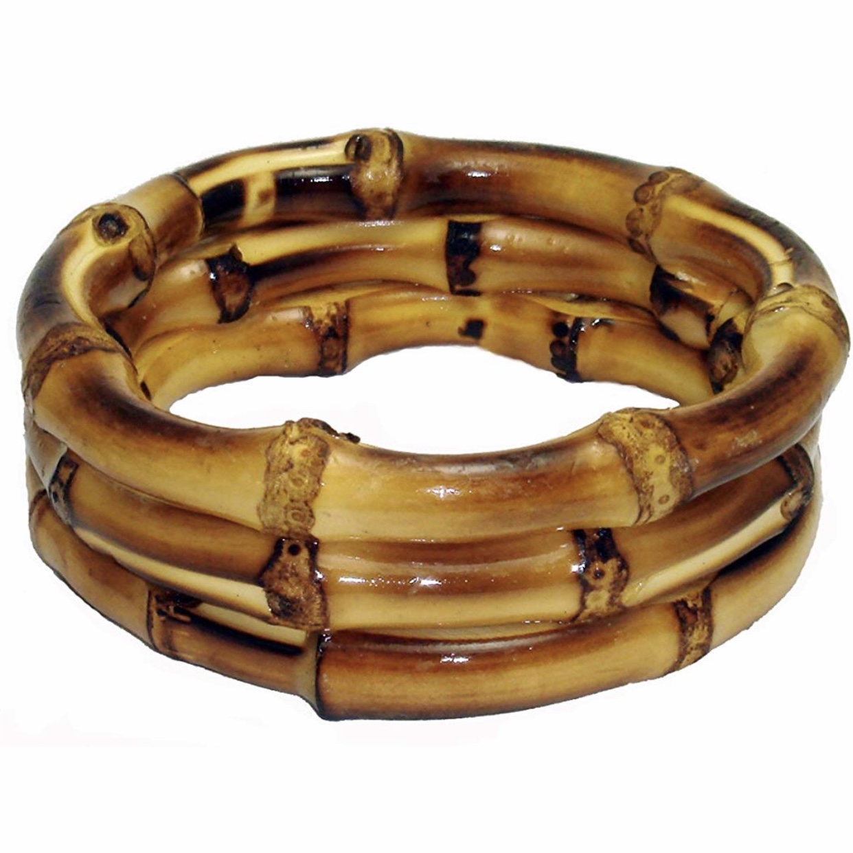 Bamboo Wood Trio Bracelet