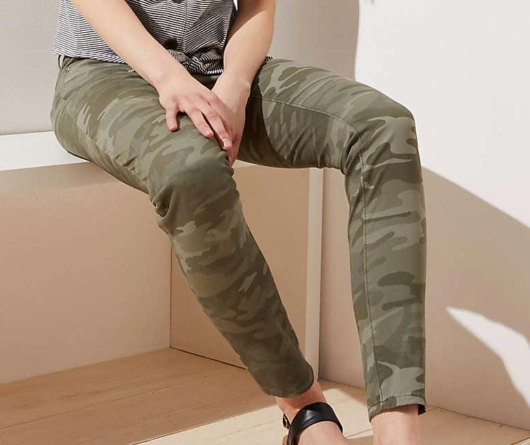 Camo Skinny Pants