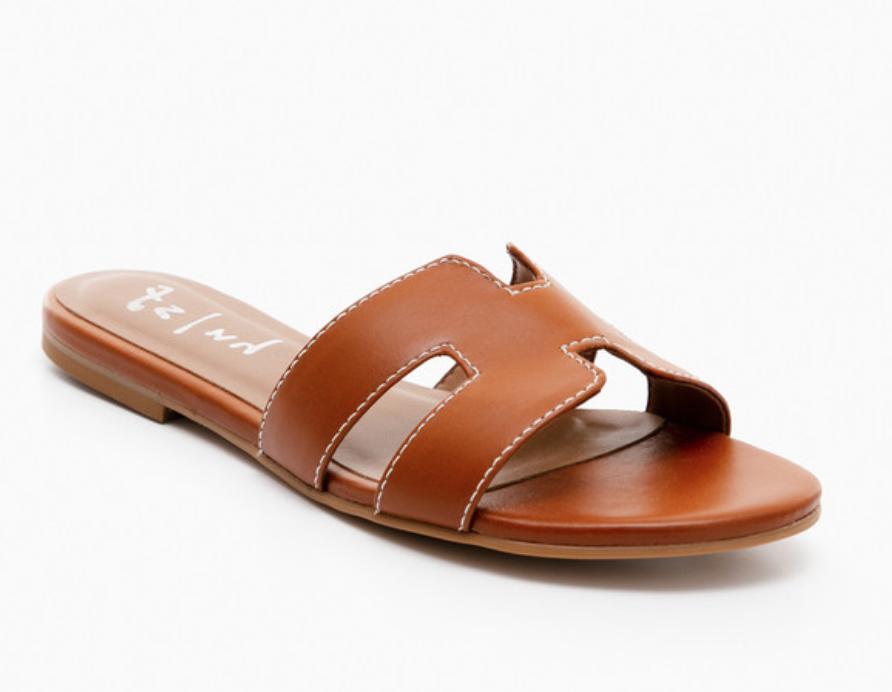 Cognac Leather Alibi Sandals