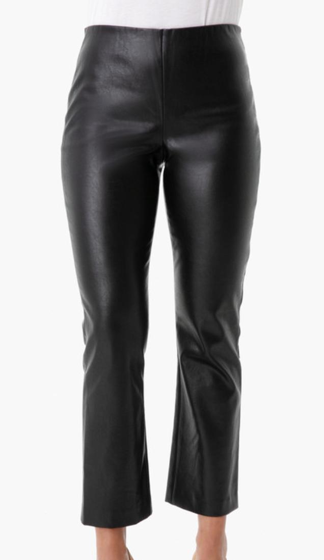 Black Leather Ashford Pants