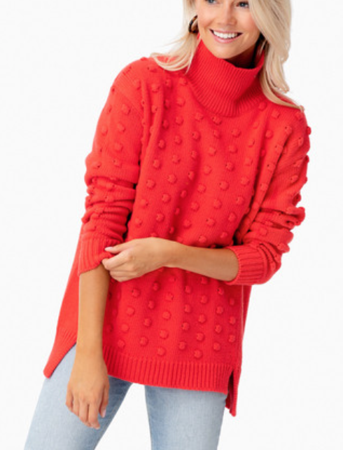 Red Alice Popcorn Sweater