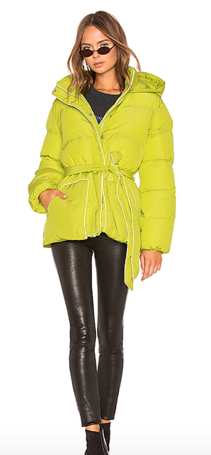 Lovers + Friends Lindsey Belted Puffer Jacket