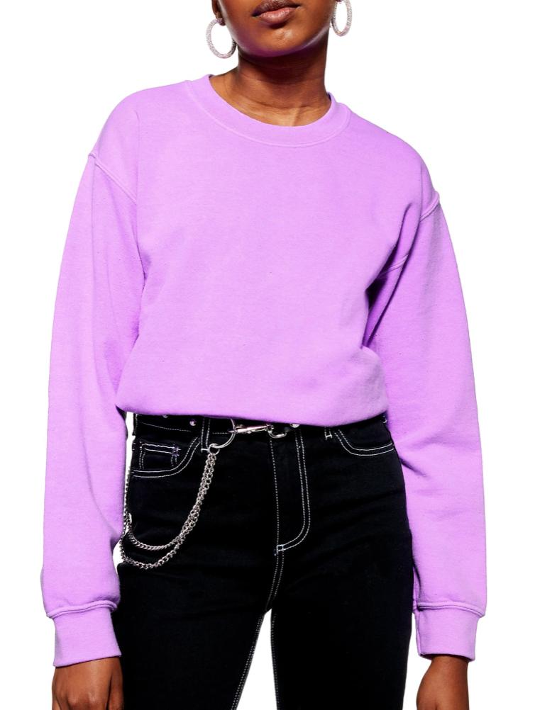 Topshop Washed Neon Sweatshirt