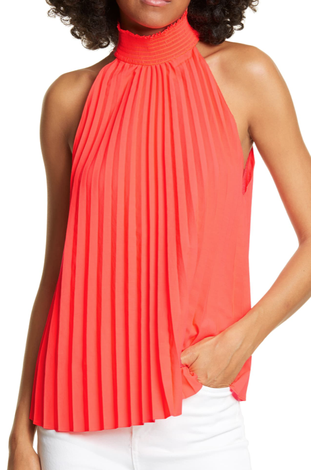 A.L.C. Imani Pleated Sleeveless Top