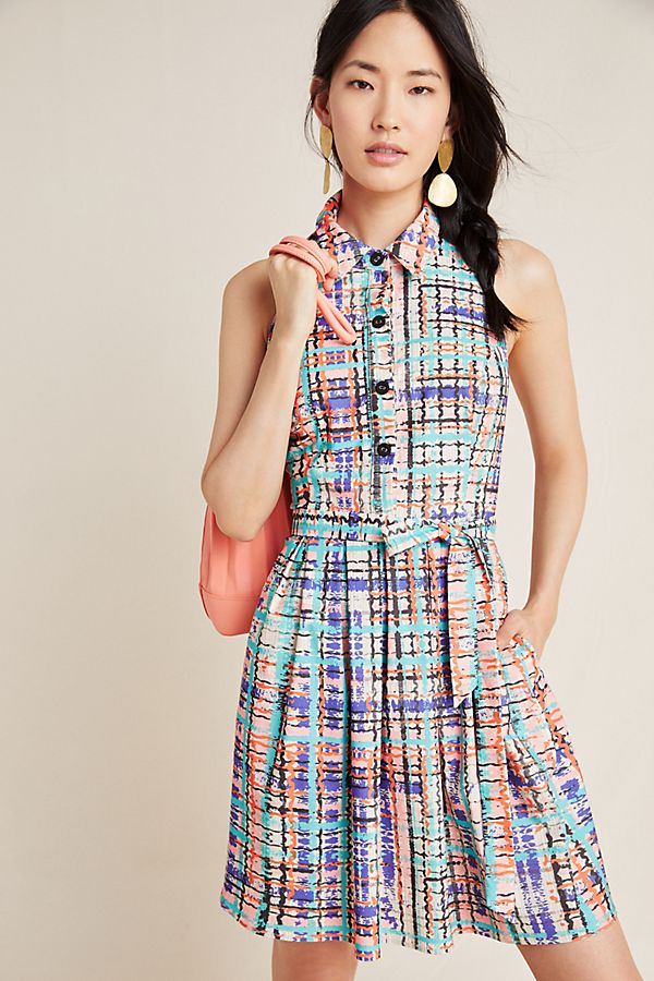 Anthropologie Sedgwick Abstract Shirtdress