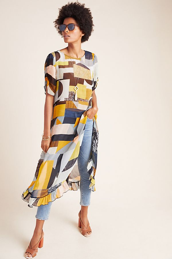 Anthropologie Fortaleza Abstract Tunic