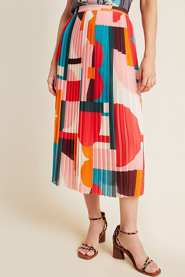 Anthropologie Aurelia A-Line Midi Skirt