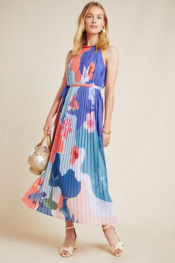 Anthropologie Encanta Abstract Maxi Dress