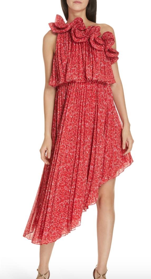 Alexia One-Shoulder Asymmetrical Dress
