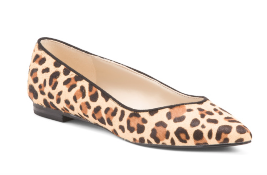Marc Fisher Leopard Haircalf Flats