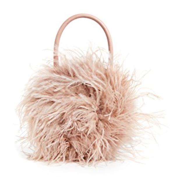 Loeffler Randal Zadiea Feather Circle Tote Bag