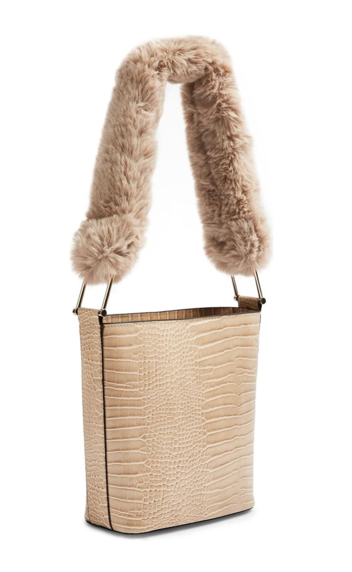 Topshop Tess Faux Fur Handle Tote Bag