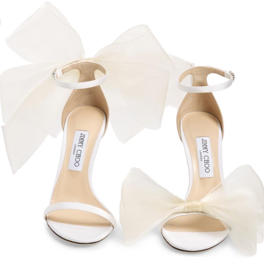 Jimmy Choo Aveline Bow Ankle Strap Sandal