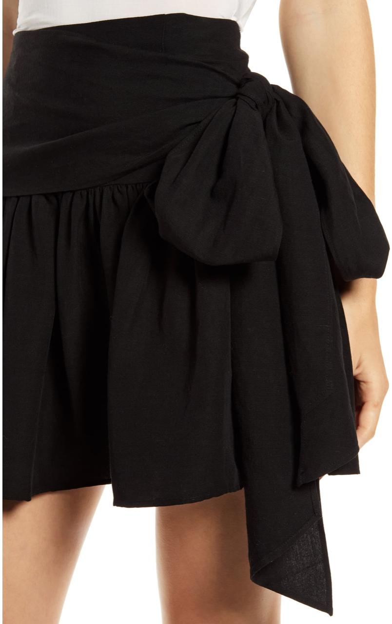 Something Navy Ruffle Miniskirt
