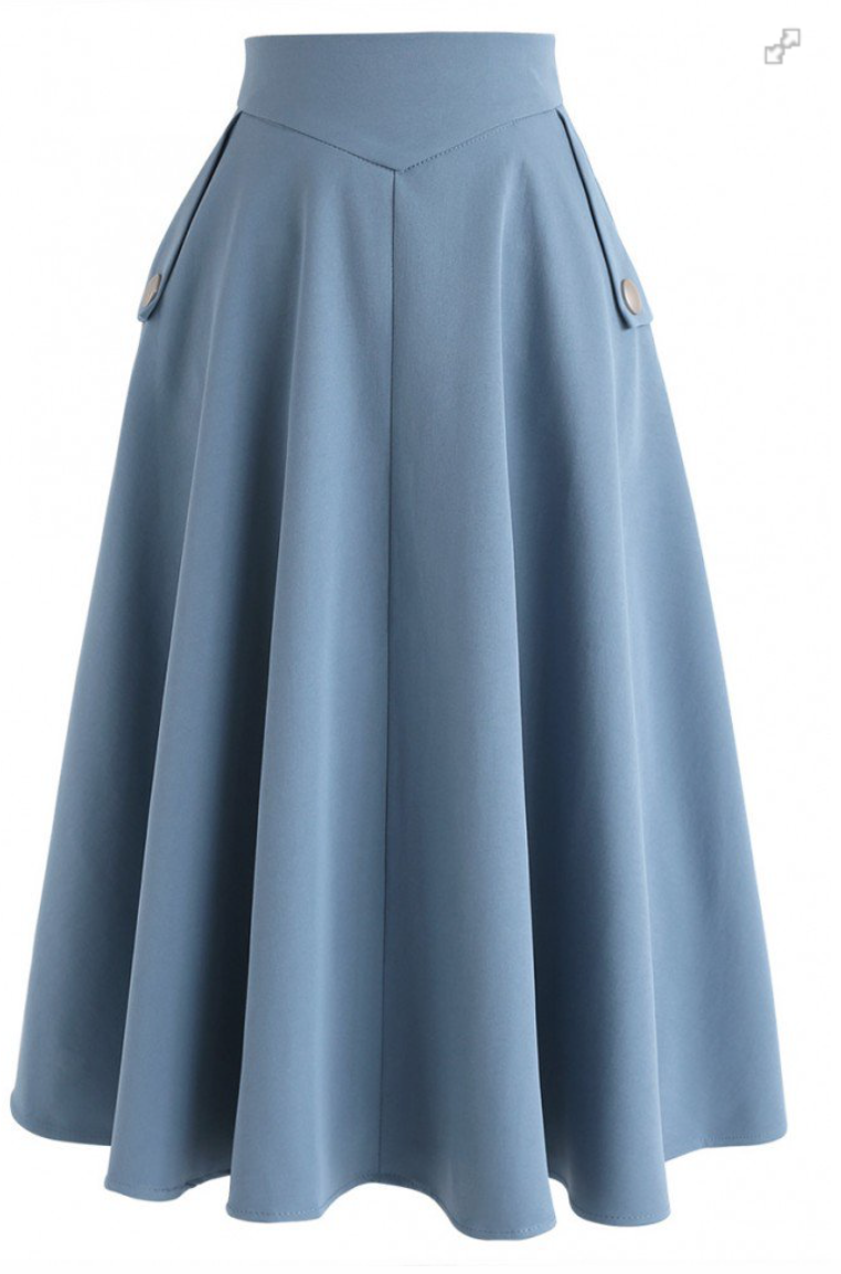Chicwish Simplicity A-Line Midi Skirt