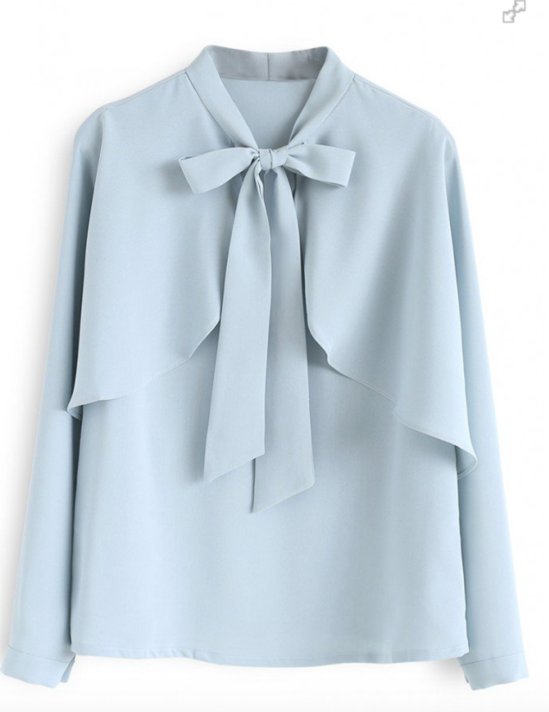Chicwish Crush on Casual Bowknot Cape Sleeves Top