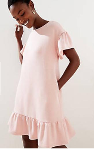 Flounce Pocket Tee Dress