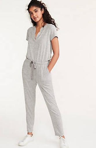 Lou & Grey Split Neck Jumpsuit