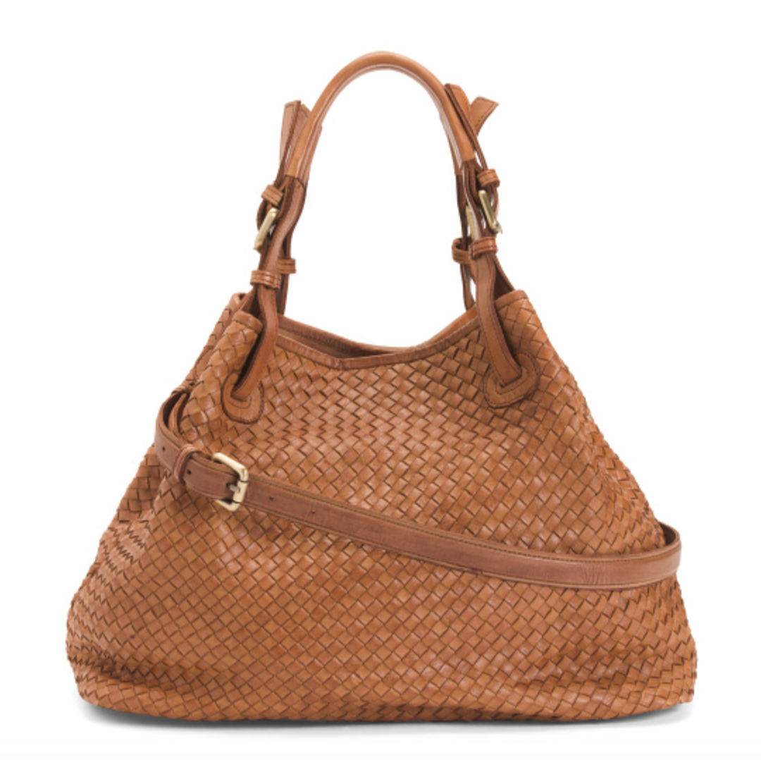 Valentina Woven Leather Tote
