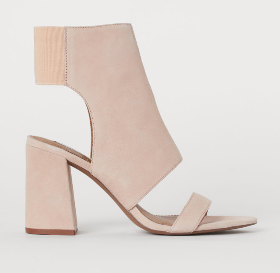 Open Suede Ankle Boots