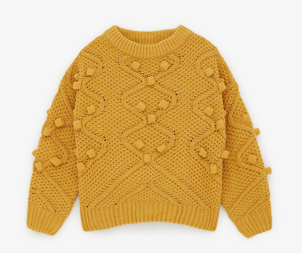 Micro-Chenille Cable Knit Sweater