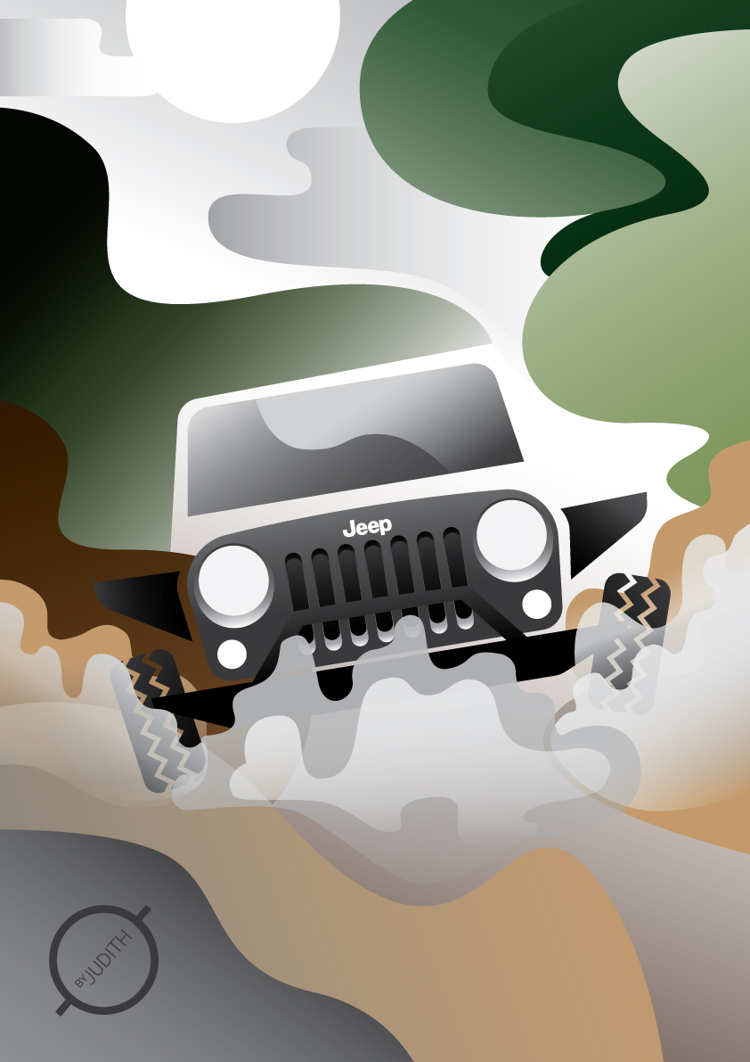 The JEEP experience - When the environment in the illustration has to reflects the experience of the object.